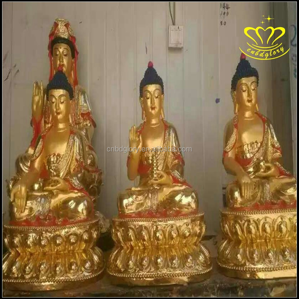 Mini Beautiful Tibet thai Buddha Statues Antiques Finished