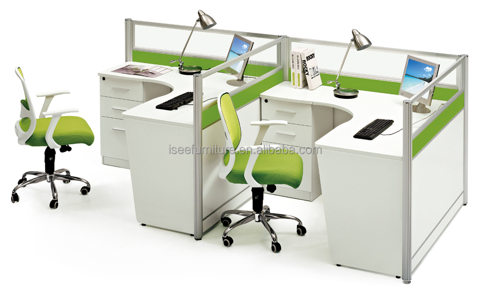 Computer Workstation Aluminum Office Desk Partitions IC009