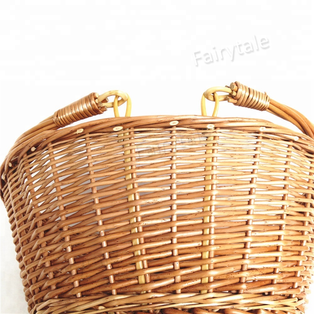 Kaufen Leere Willow Picknick Korb Doppel Griffe Folding Picknick Korb 4 Person