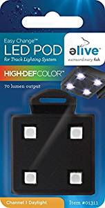 Elive LED Aquarium Fish Tank Pod Lighting - Replacement Pod for LED Track Light, High Definition Color