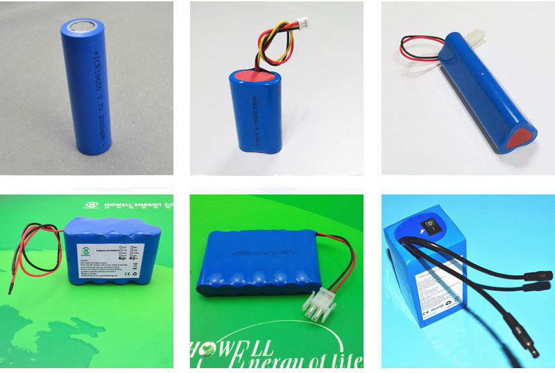 Personalizzato 12 v 7Ah 18650 li-ion battery pack