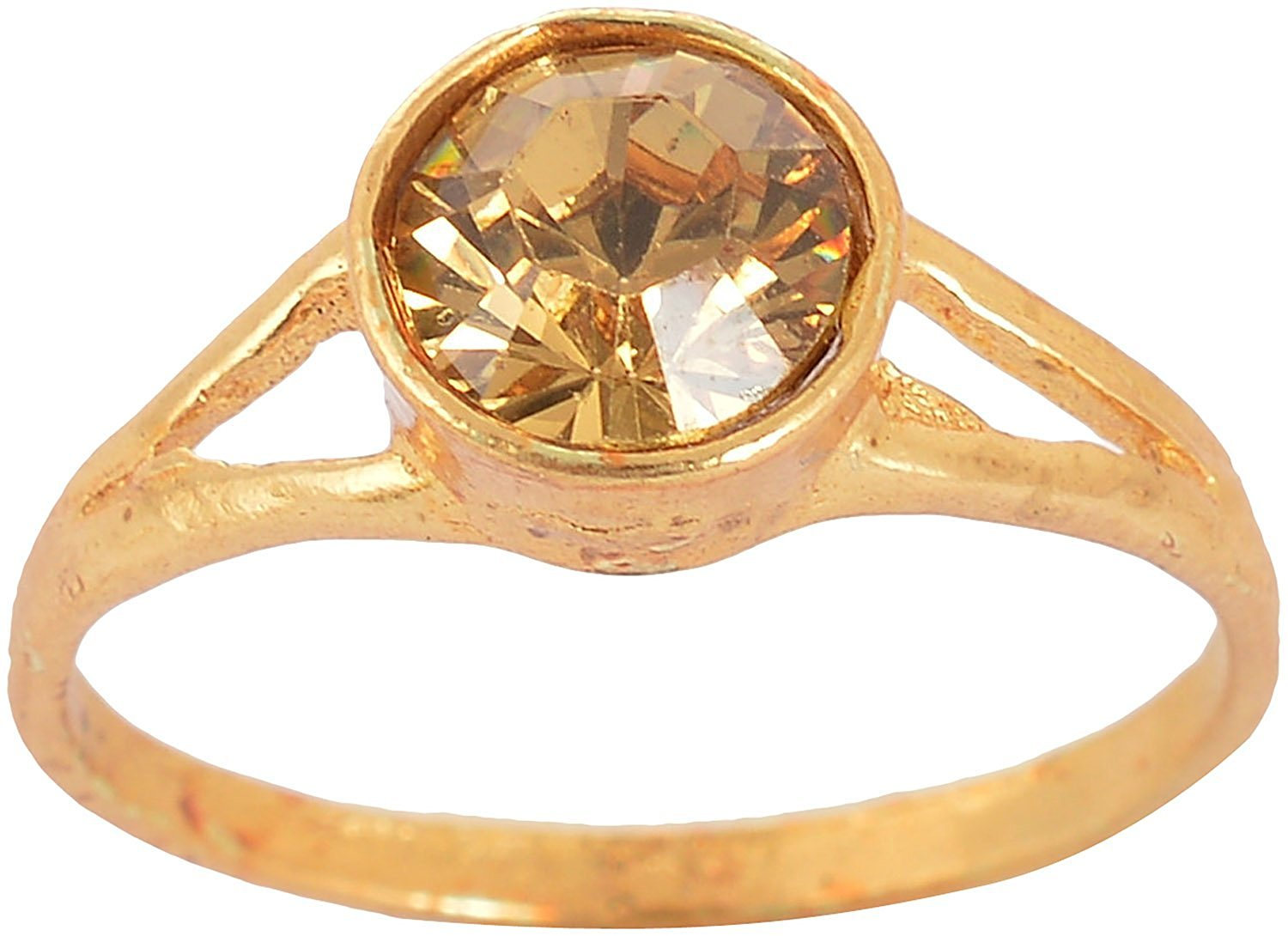 Handicraft Kottage Women's Gold Plated Alloy Ring with Gold Crystal (AGR 016)