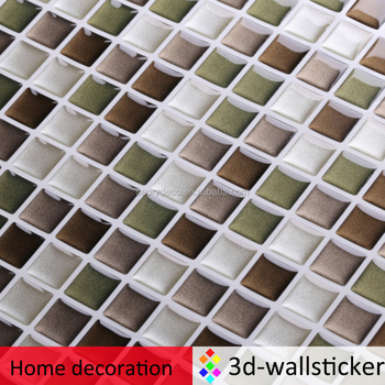 3D bathroom waterproof wall stickers home decor mosaic wall decals vinyl sticker