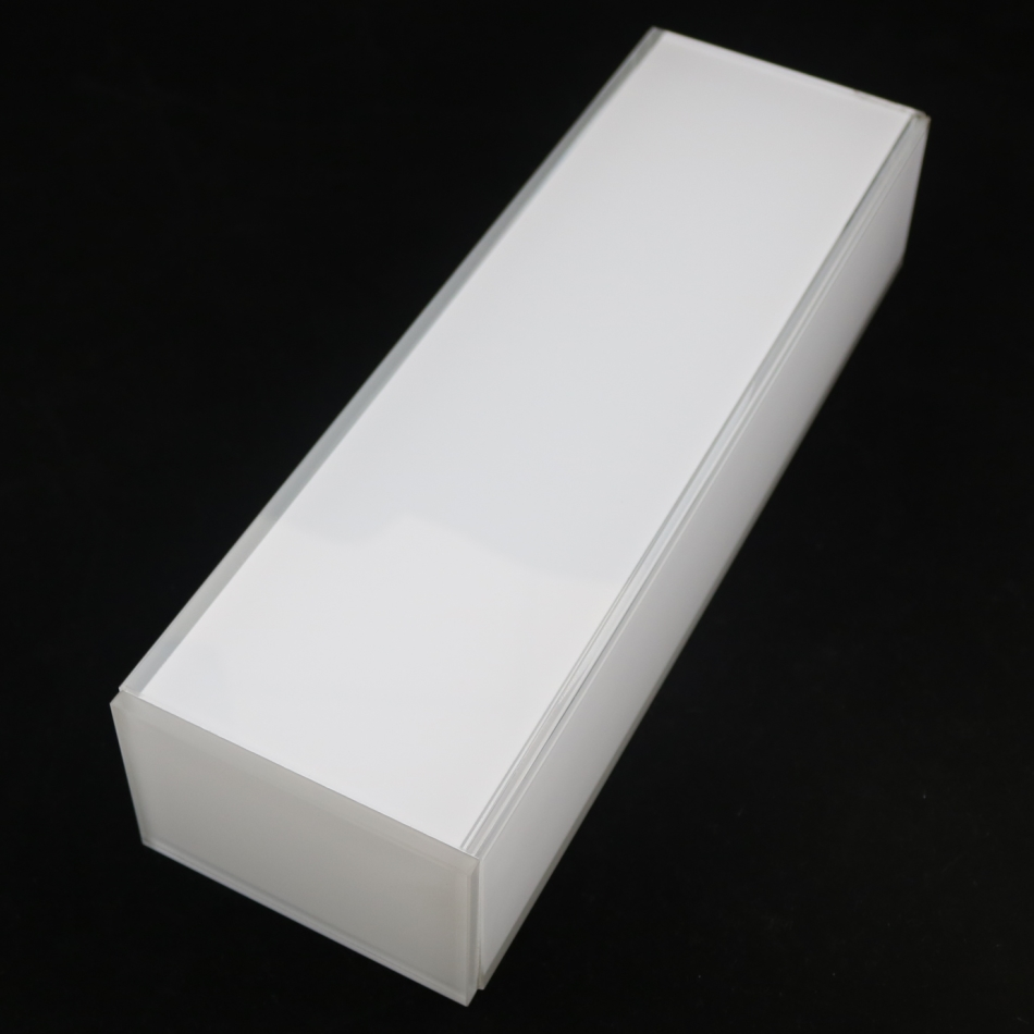 white painted adhesive wall lighting glass cover