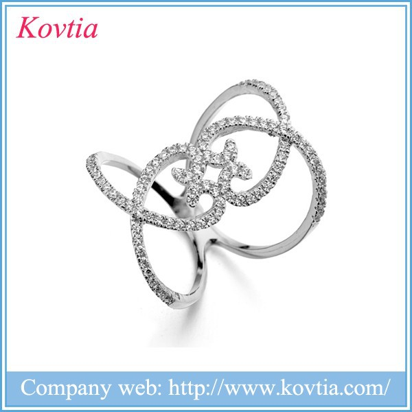 Fashion imported semi jewelry 18k white gold american joyas buy rings from china