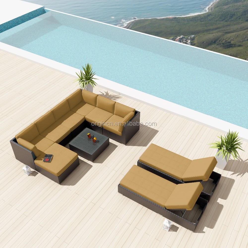 Boden Entwickelt Resort Hotel Sofa Lounge Mit Tag Bett Rattan ...