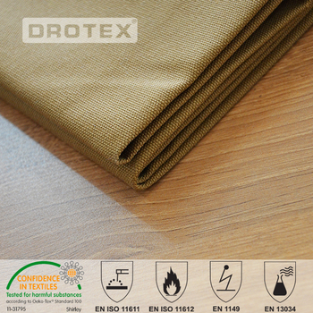 EN1149-3 T/C 65/35 twill non static workwear fabric with carbon anti static fiber