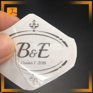 custom silicone adhesive stickers