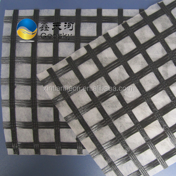 high quality PP Geotextile Composite 100KN Fiberglass Geogrid