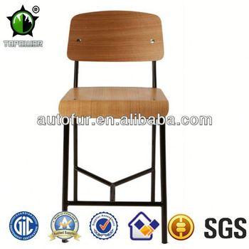 Modern Wooden Cheap Barstools Jean Prouve Standard Bar
