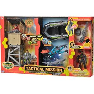 The Corps Tactical Mission Action Figure Play Set with Boat