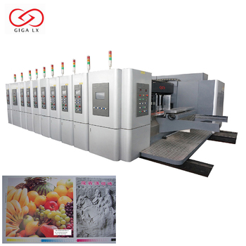 Customized Printing Corrugated Box Flexographic Printers Servo Control Vacuum Suction Automatic Die Cutting Machine LX-707N
