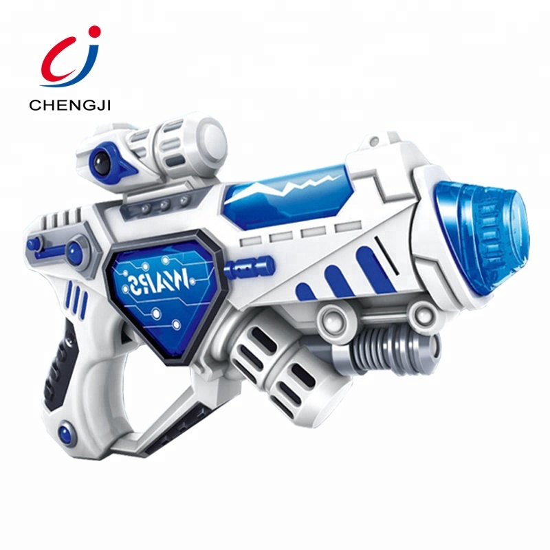 China plastic indoor outdoor boy hand space laser gun toy for sale