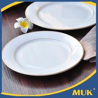 wholesale royal white hotel restaurant ceramic dinner plate