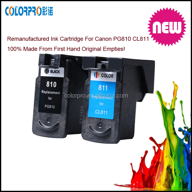 Top products Remanufactured ink cartridge For Canon CL 810 PG 811 with chip shows ink level