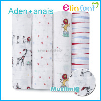Hot sales aden anais muslin multi-uses baby swaddle blanket