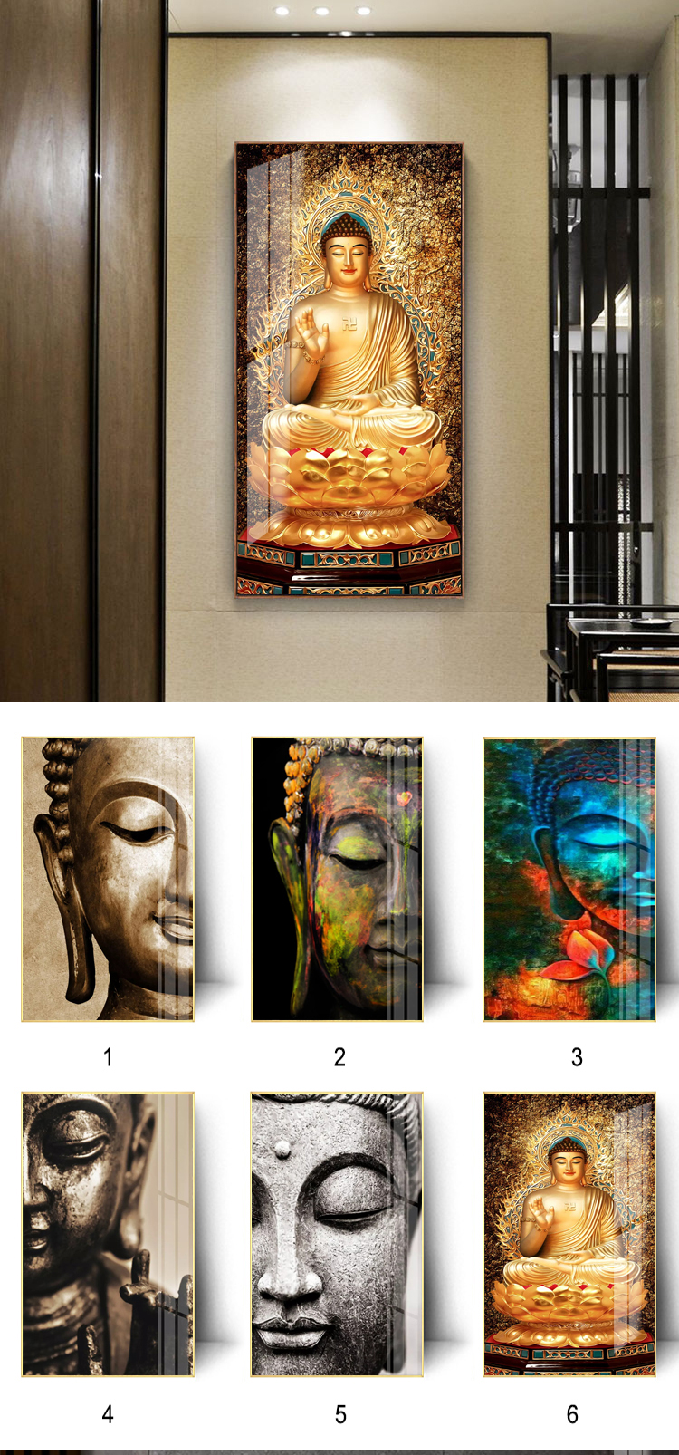 Hot selling buddha decorative art wall painting