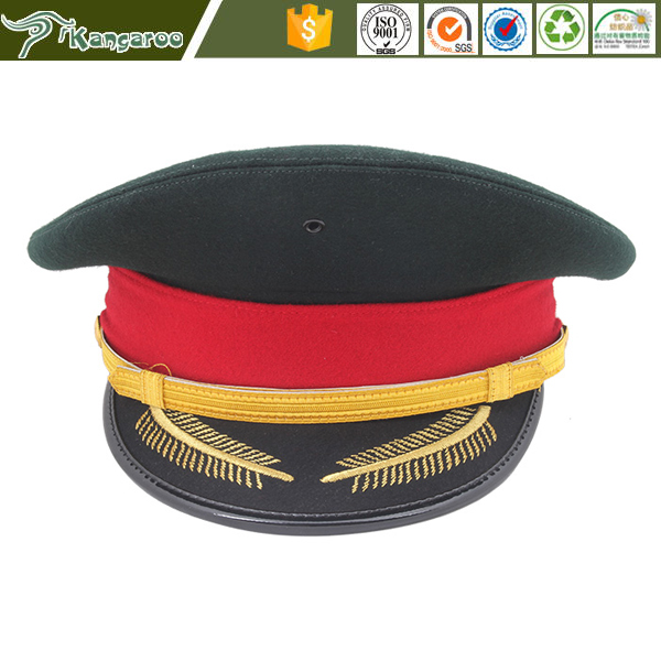 KMH032 Oem Security Guard Military Officer Peaked Cap