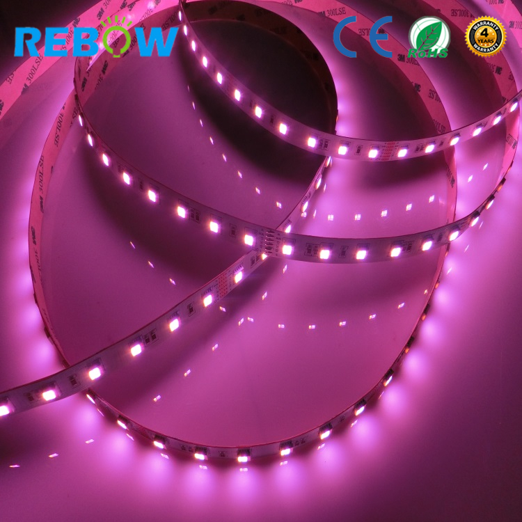 5 colors in 1 ! 60LEDs/m 2018 new led strip ! WW+RGB+CW led strip light flexible RGBCCT led strip light RGB+CCT led tape