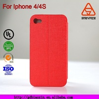 BX Provide Kickstand function colorful leather case for iphone 4/4s,flip pu learher case for iphone 4/4s