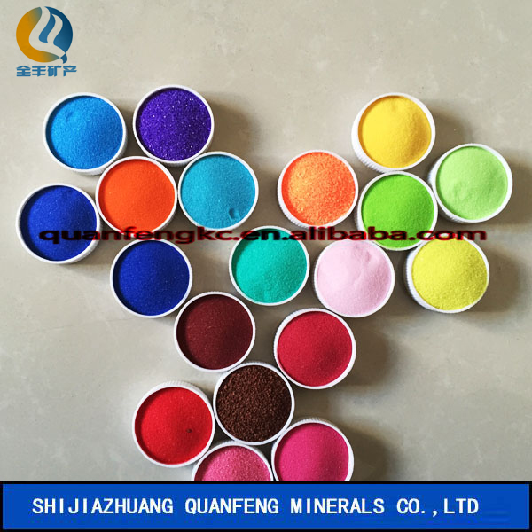 Dye colored sand/slate flakes used for decoration