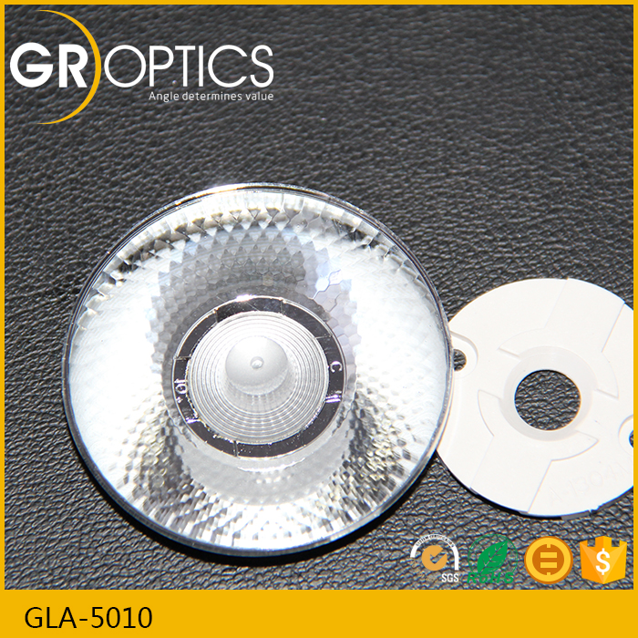 Cheap price cob led lens PMMA material 10 degree lens on Alibaba