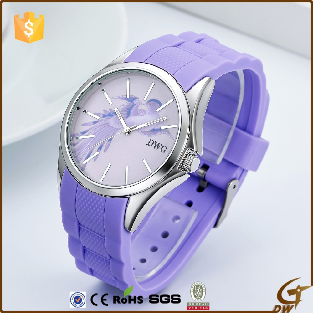 Good looking custom silicone rubber watch band clock wrist watch