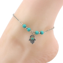 Fashion Multiple Designs Vintage Anti Silver Finish Charms Anklet Foot Jewelry for Wholesale