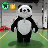 3m High Event Walking Panda Costume Inflatable Customized Moving Inflatable Panda Costume A865