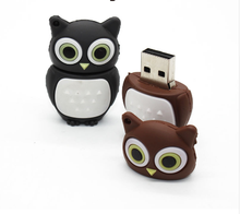 Low Price 1 Dollar 3D Pvc 32Mb 128Mb Usb Pen Stick Rubber Owl Shape Custom Cartoon Character 1Gb 16Gb 256Mb Usb Flash Drive