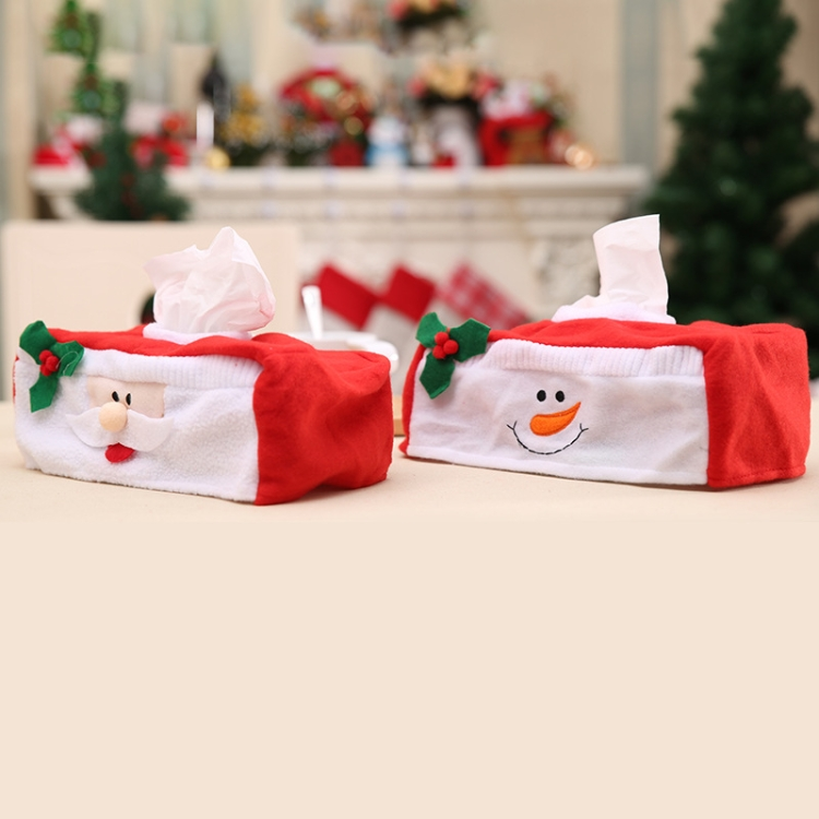 2017 2 PCS Christmas Napkin Box Christmas Holiday Supplies Decorations, Random Style Delivery, Size: 26*13*10cm