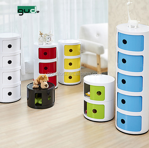 Round compartment Plastic narrow Storage Cabinet