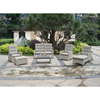 Adjustable back Outdoor Rattan PE Wick Garden Furniture Sofa Patio Round Cane Dining Sofa Chair Set