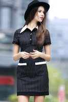 Economic promotional short sleeve casual dress for fat women