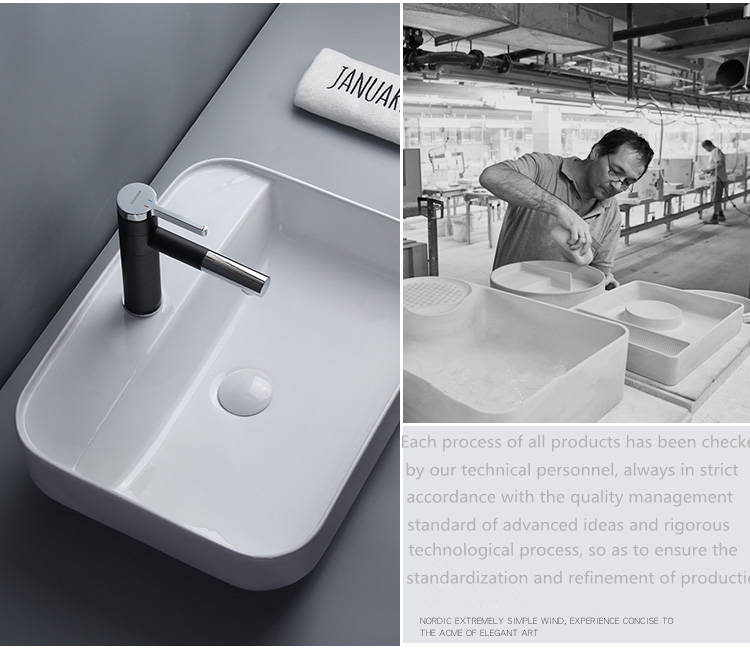 High Grade sanitary ware counter top washbasin ceramic art basin China manufacturer