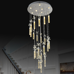 Commercial acrylic 304 stainless steel cylinder pendant light