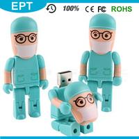 Robot Man Shape Plastic usb flash drive