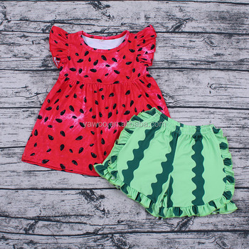 824271384 Yawoo baby clothes cute baby girl boutique outfits kids watermelon clothes  factory price wholesale