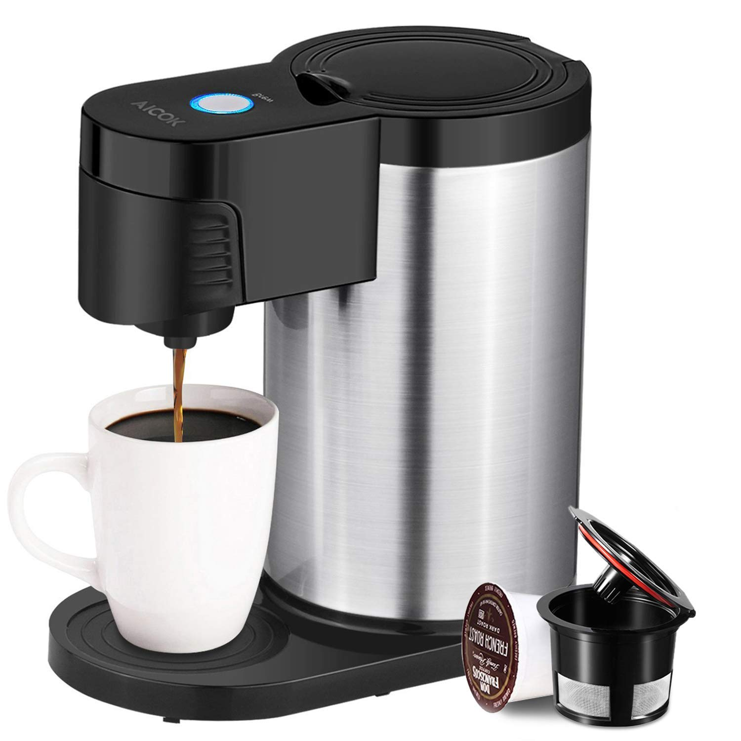 Get Quotations Ai Single Serve Coffee Maker Cup For Most Pods Including