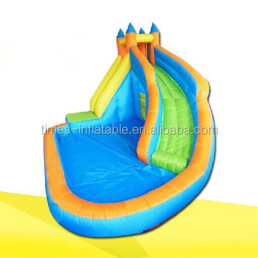 Backyard inflatable water slide with pool buy inflatable for Cheap inflatable pool