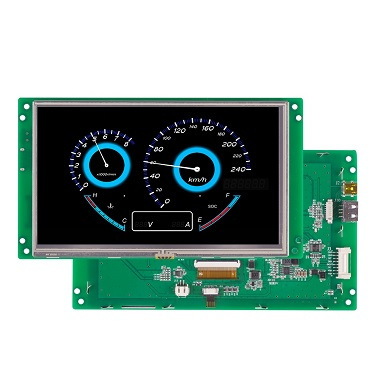 7 inch small lcd high brightness tft display with RS232 / RS485 / TTL interface