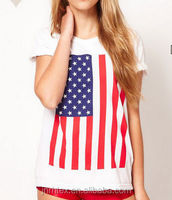 Top quality cotton printed t shirt american flag,t shirt printing for hotsale