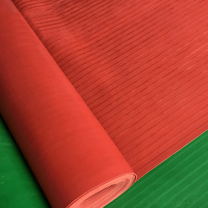 High Quality Red Waterproof Anti-Skidding Fine Ribbed Rubber Sheets