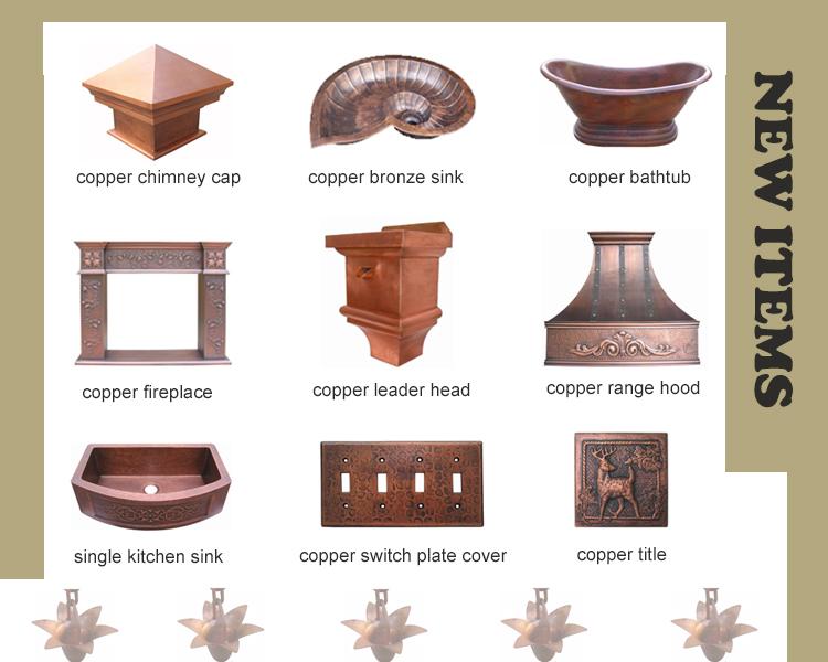 A mão cobre martelado pia do banheiro/pia lavatório de cobre com forma redonda