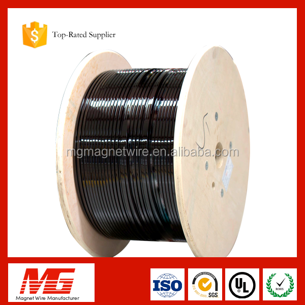 Index200c Heat Resit Corona Yarn Wrapped Polyimide Film Sintered Rectangular Copper Wire