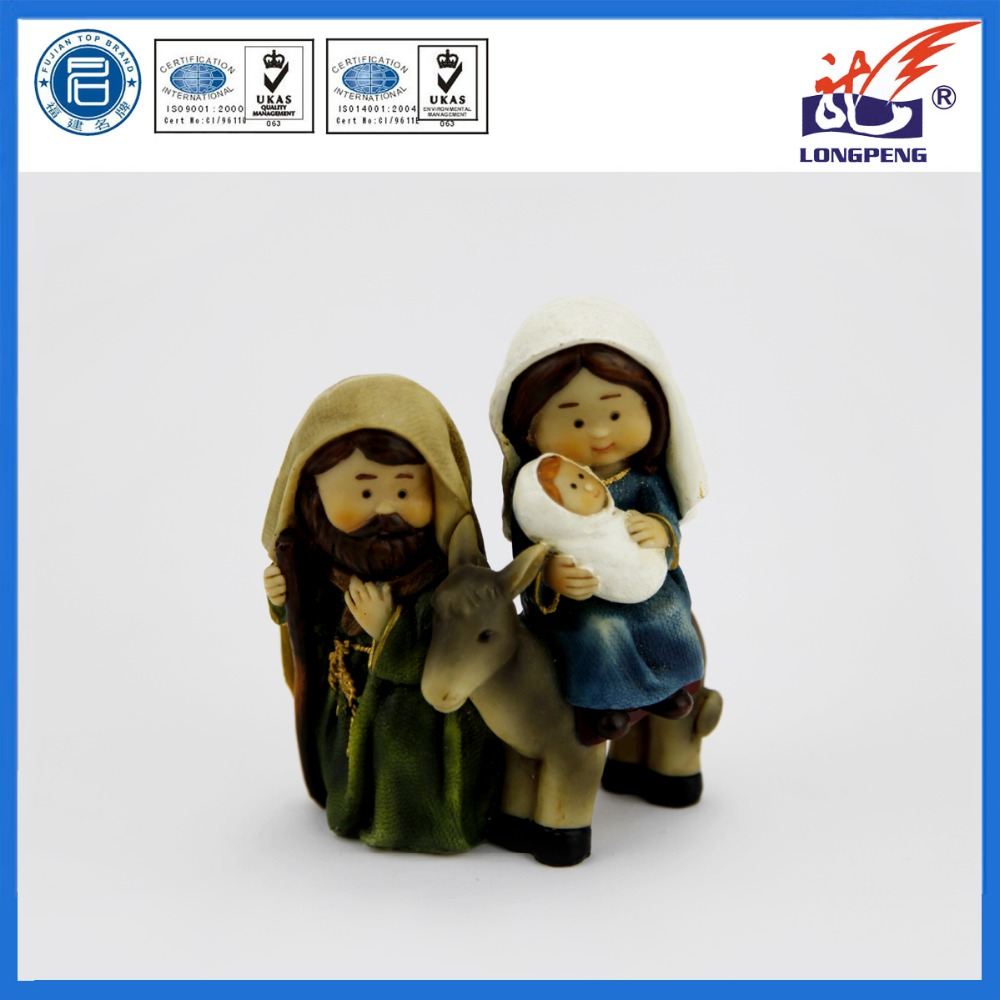 "Traveling With Mary and Joseph:Praying las Posa,""The Lodging"" Figure-Joseph with Mary Riding on Donkey on their way to Bethlehem"