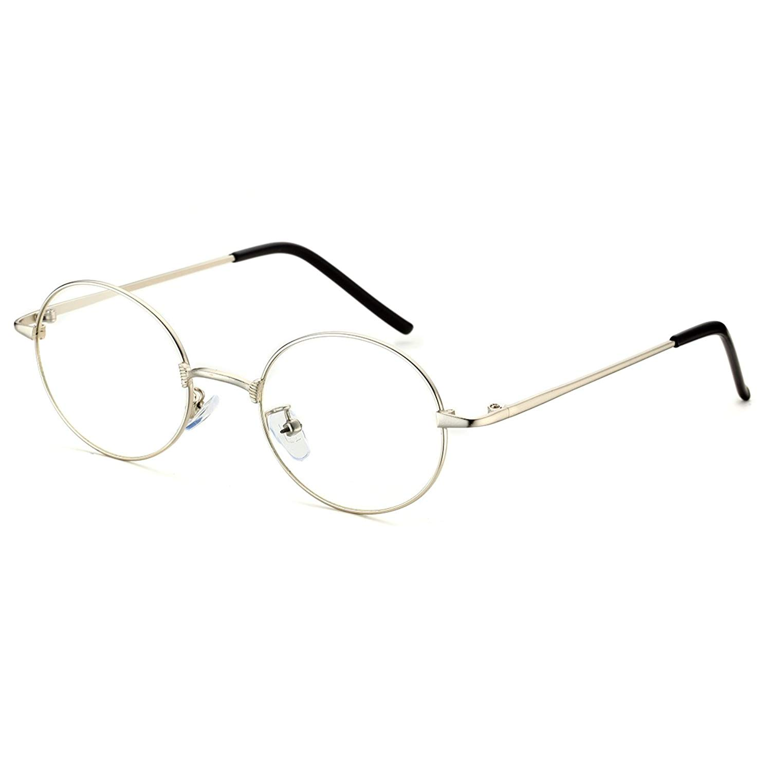 93a74382963 Get Quotations · PenSee Optical Metal Round Oval Circle Eye Glasses Eyewear  Frames