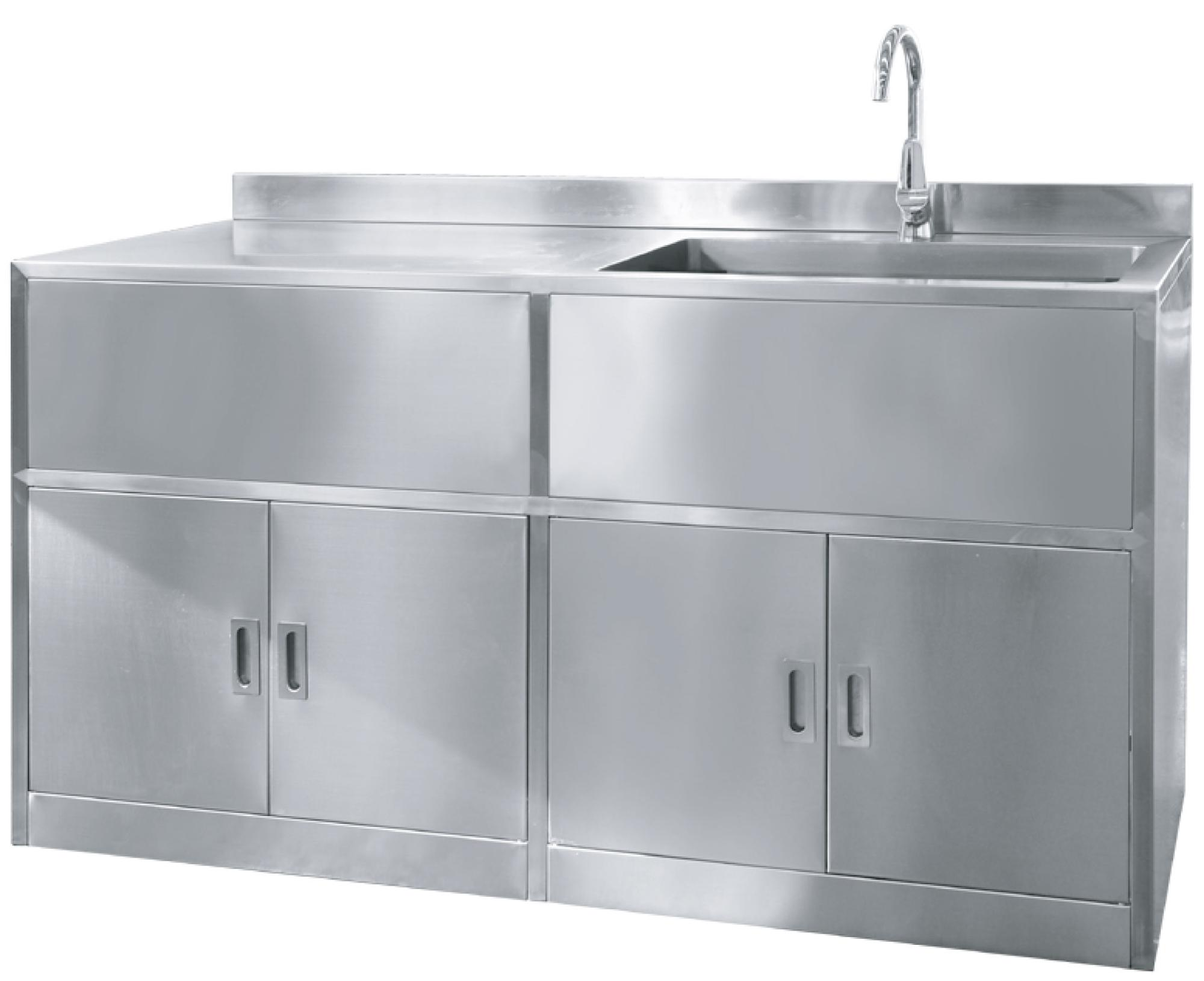 Stainless Steel Kitchen Sink Cabinet Scrub Unit Buy Free