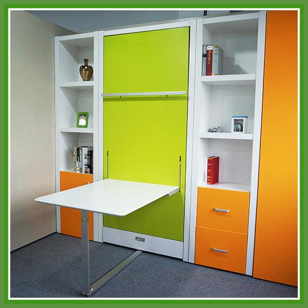 Ruimtebesparende verborgen opklapbed met kantoor tafel ruimtebesparende meubels bedden product - Bed kind met mezzanine kantoor ...