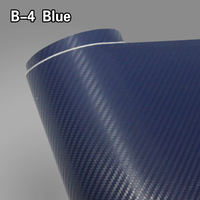 pvc material 1.52x30m car wrap sticker air free bubbles 3d carbon fiber foil vinyl film